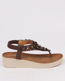 Butterfly feet Joy Wedge Sandal Bronze