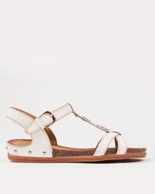 Butterfly Feet Danes Sandal White