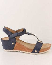Butterfly Feet Jodie Wedge Sandal Navy