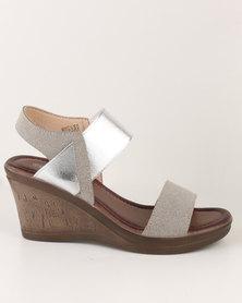 Butterfly Feet Macy Wedge Sandal Silver