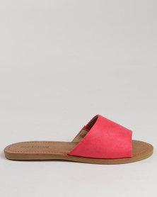 Call It Spring Thirenia Slide Sandals Peach