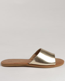 Call It Spring Thirenia Slide Sandals Gold