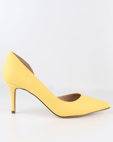 Call It Spring Toppen Heels Yellow