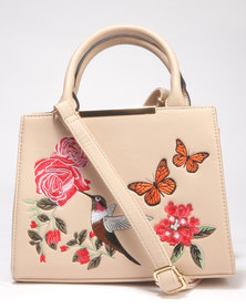 Call It Spring Bordentown New Embroidery Mini Tote Bag Bone