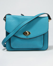 Call It Spring Fiarwen Crossbody Bag With Fake Turn Lock Feature Teal