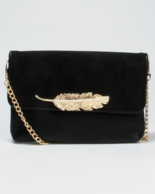 Call It Spring Daronala New Leaf Crossbody Clutch Black