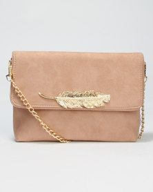 Call It Spring Daronala New Leaf Crossbody Clutch Natural
