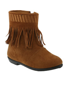 Candy Girls Tassel Detail Ankle Boot Rust