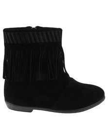 Candy Girls Tassel Detail Ankle Boot Black