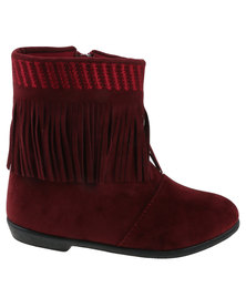 Candy Girls Tassel Detail Ankle Boot Wine Red