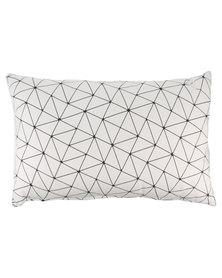 Casa Culture Triangle Cushion White