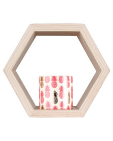 Casa Culture Medium Hexagon Box Shelf