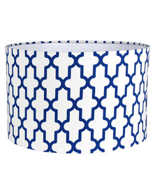 Casa Culture Trellis Lamp Shade Blue & White