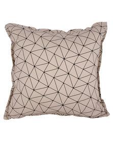 Casa Culture Origami Cushion Stone