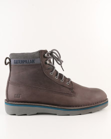 Caterpillar Ode Leather Casual Lace up Boot Cement