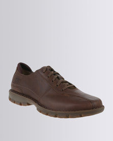 Caterpillar Bradley Leather Casual Lace Up Shoe Brown