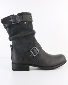 Caterpillar Midi Leather Boots Grey