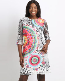 Cath.Nic Printed Lace Knit Dress Multi