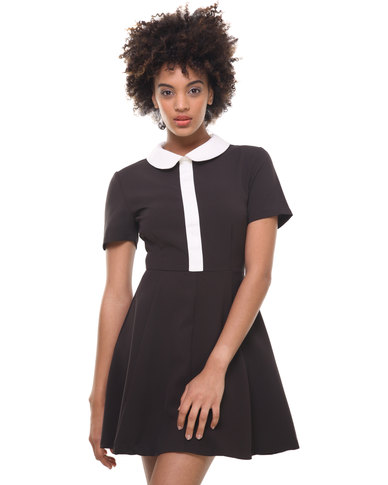 Catwalk 88 Peter Pan Collar Dress Black