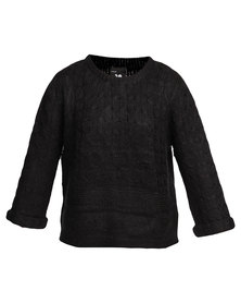 Catwalk 88 Isabella Cable Sweater Black