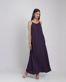 Catwalk 88 Cami Straps Maxi Dress Plum