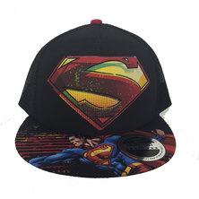 Character Brands Superman Flatbill Cap Black
