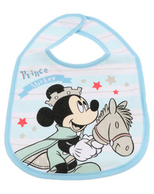 Character Brands Mickey Mouse Jersey Bibs Blue/White