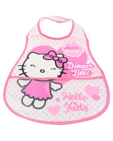 Character Brands Hello Kitty Catcher Bibs White/Pink