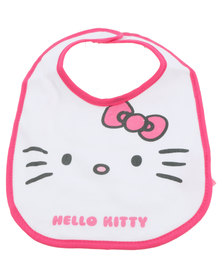 Character Brands Hello Kitty Jersey Bibs Pink/White