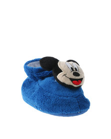 Character Brands Mickey Mouse Bootie Slippers Blue/White