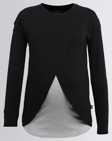 Cherry Melon Long Feeding Top Black/Grey