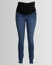 Cherry Melon Skinny Jeans Faded Blue
