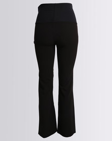 Cherry Melon Straight Leg Pants With Band Black/Navy