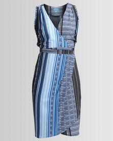 Chica-Loca Sleeveless Wrap Dress Multi