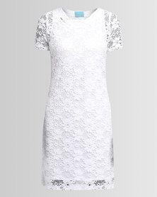 Chica-Loca Lace Tunic Slip White