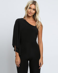 Image result for City Goddess London City Goddess London Asymmetric Jumpsuit in Black