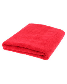 Colibri Towelling Great Value Universal Cotton Bath Sheet Red