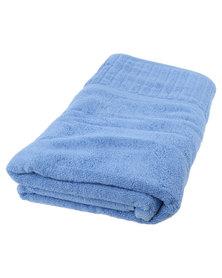 Colibri Towelling Galleon Pure Cotton Bath Sheet 450GSm Blue