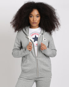 Converse Core Full Zip Hoodie Grey