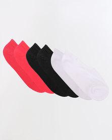 Converse Basic Invisible 3 Pack Socks Multi