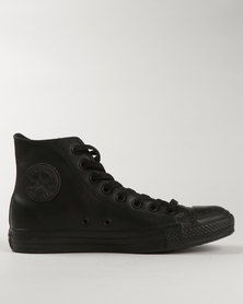 Converse Men's Chuck Taylor All Star Hi-Top Leather Black Mono