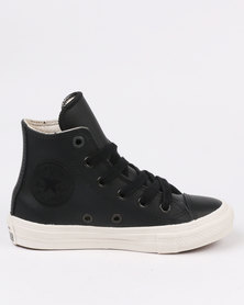 Converse Chuck Taylor Leather Hi Top Sneaker Black
