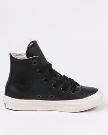 Converse Chuck Taylor Leather Hi Top Sneaker Black