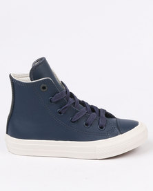 Converse Chuck Taylor Leather Hi Top Sneaker Navy