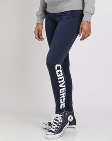 Converse Core Wordmark Legging Nighttime Navy