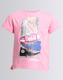Converse Stacked Chuck II Tee Pink