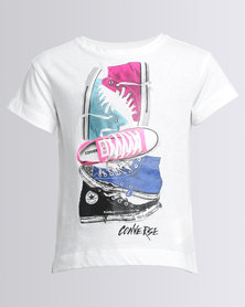 Converse Stacked Chuck II Tee White