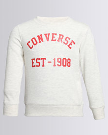 Converse Vintage Type Crew Neck Sweater Oatmeal