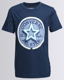 Converse Neon Chuck Patch Tee Navy