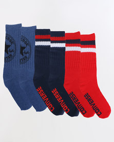 Converse 360 Chuck Patch Fashion Crew Socks Multi
